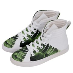 Green Banana Leaves Men s Hi-top Skate Sneakers by goljakoff