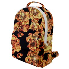 Copper Floral Flap Pocket Backpack (small)