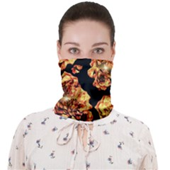 Copper Floral Face Covering Bandana (adult)