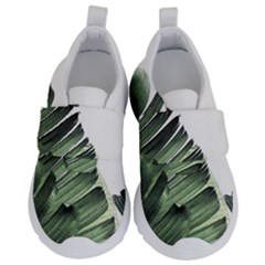 Banana Leaves Kids  Velcro No Lace Shoes by goljakoff
