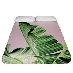 Palm Leaf Fitted Sheet (california King Size) by goljakoff