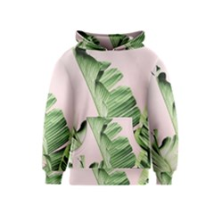 Palm Leaf Kids  Pullover Hoodie by goljakoff
