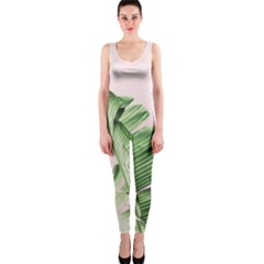 Palm Leaf One Piece Catsuit by goljakoff