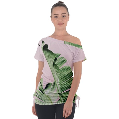 Palm Leaf Tie-up Tee by goljakoff