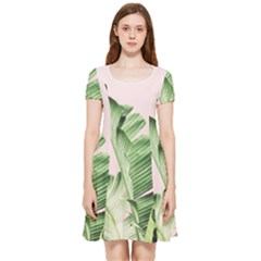 Palm Leaf Inside Out Cap Sleeve Dress by goljakoff