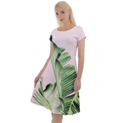 Palm Leaf Classic Short Sleeve Dress by goljakoff