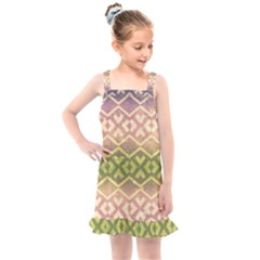 Ethnic Seamless Pattern Kids  Overall Dress