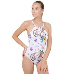 Cycle Ride High Neck One Piece Swimsuit