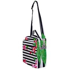 Black And White Stripes Crossbody Day Bag
