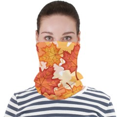 Autumn Leaves Pattern Face Seamless Bandana (adult)