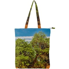 Carob Tree, Talampaya National Park, La Rioja, Argentina Double Zip Up Tote Bag