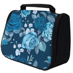 Blue Floral Print  Full Print Travel Pouch (big)