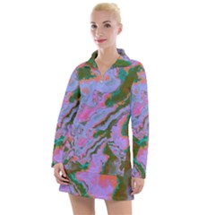 Sour Marble  Women s Long Sleeve Casual Dress