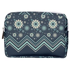 Floral-geometric  Ornament Make Up Pouch (medium)
