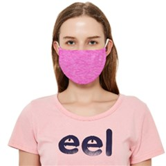 Rose Pink Melee Cloth Face Mask (adult) by SpinnyChairDesigns