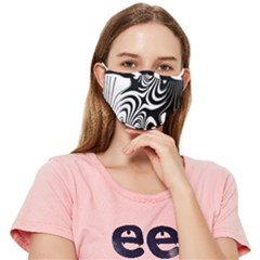 Black And White Zebra Swirl Fitted Cloth Face Mask (adult)