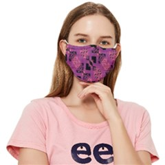 Bohemian Purple Black Fitted Cloth Face Mask (adult)