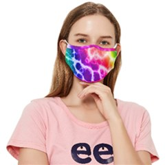Psychedelic Tie Dye Pattern Fitted Cloth Face Mask (adult)