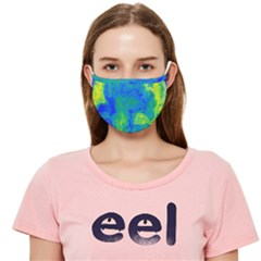 Blue Yellow Marble Paint Cloth Face Mask (adult)
