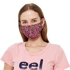Pink Brown Camouflage Crease Cloth Face Mask (adult)