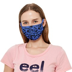 Black Blue Camouflage Crease Cloth Face Mask (adult)