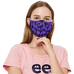 Black Purple Camouflage Fitted Cloth Face Mask (adult) by SpinnyChairDesigns