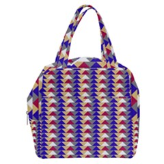 Colorful Triangles Pattern, Retro Style Theme, Geometrical Tiles, Blocks Boxy Hand Bag by Casemiro