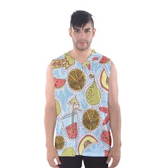 Tropical Pattern Men s Basketball Tank Top