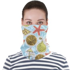 Tropical Pattern Face Seamless Bandana (adult)