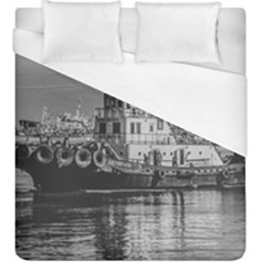 Tugboat At Port, Montevideo, Uruguay Duvet Cover (king Size) by dflcprintsclothing