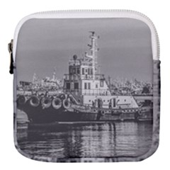 Tugboat At Port, Montevideo, Uruguay Mini Square Pouch by dflcprintsclothing