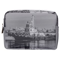 Tugboat At Port, Montevideo, Uruguay Make Up Pouch (medium) by dflcprintsclothing