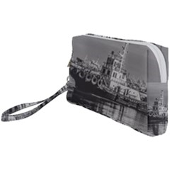 Tugboat At Port, Montevideo, Uruguay Wristlet Pouch Bag (small) by dflcprintsclothing