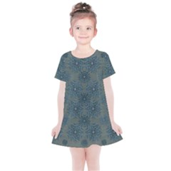 Decorative Wheat Wreath Stars Kids  Simple Cotton Dress