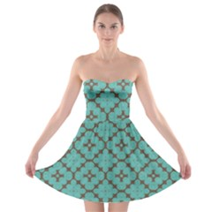 Tiles Strapless Bra Top Dress by Sobalvarro