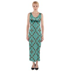 Tiles Fitted Maxi Dress by Sobalvarro