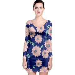 Floral Long Sleeve Bodycon Dress by Sobalvarro