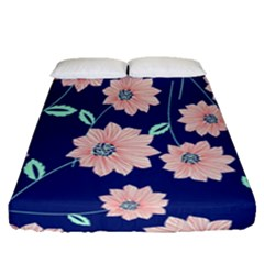 Floral Fitted Sheet (queen Size) by Sobalvarro