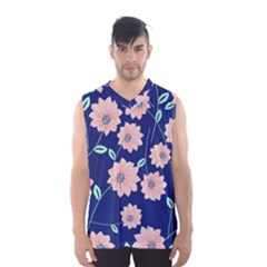 Floral Men s Basketball Tank Top by Sobalvarro