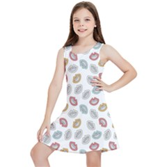 Happy Doodle Laugh Kids  Lightweight Sleeveless Dress by tmsartbazaar