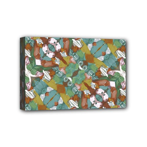 Multicolored Collage Print Pattern Mosaic Mini Canvas 6  X 4  (stretched) by dflcprintsclothing
