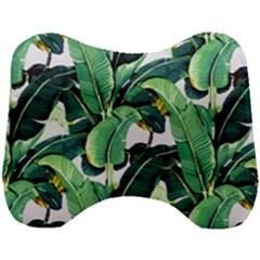 Tropical Banana Leaves Head Support Cushion by goljakoff