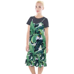 Tropical Banana Leaves Camis Fishtail Dress by goljakoff