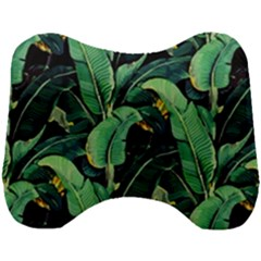 Night Tropical Banana Leaves Head Support Cushion by goljakoff