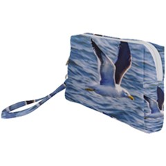 Seagull Flying Over Sea, Montevideo, Uruguay Wristlet Pouch Bag (small) by dflcprintsclothing