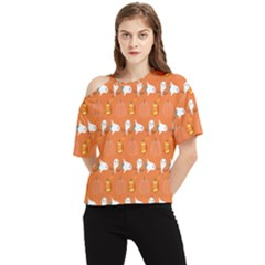 Halloween One Shoulder Cut Out Tee