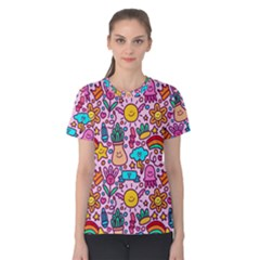 Colourful Funny Pattern Women s Cotton Tee