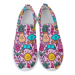 Colourful Funny Pattern Women s Slip On Sneakers