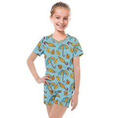New Season Umbrella Kids  Mesh Tee And Shorts Set