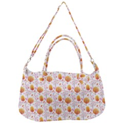 Orange Pink Tree Pattern Removal Strap Handbag